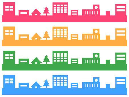 Line colorful city