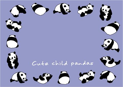 귀여운 아이 팬더 양 1