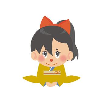 A woman wearing a kimono (Koza / Ponytail)