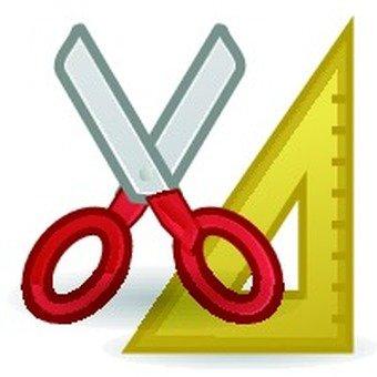 Scissors triangle ruler