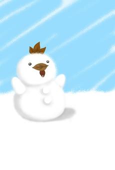 Chicken snowman (simple)