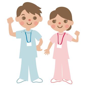 Male and female caregiver