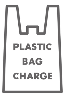 Plastic bag charge (English notation)