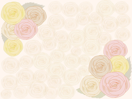 Autumn-colored rose romantic frame