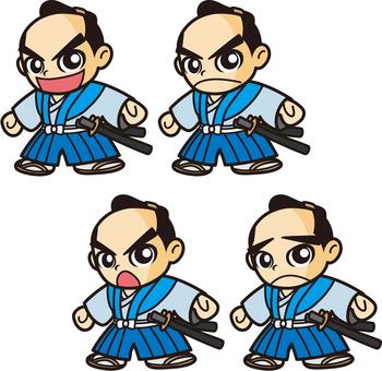侍キャラクター(藩士風)