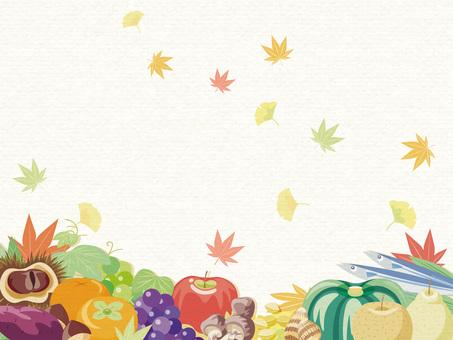 秋の味覚フレーム7