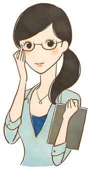 안경 여성