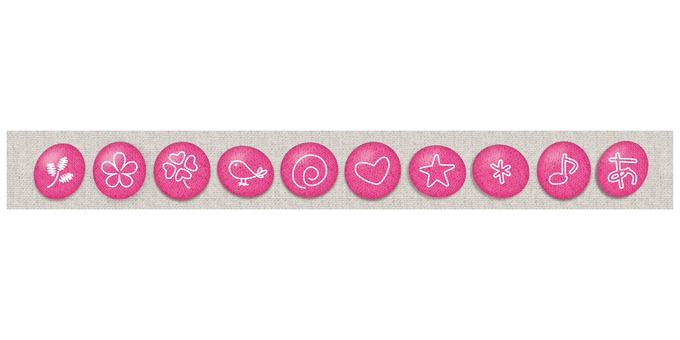Embroidery decoration button