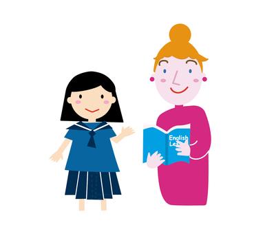 英語老師和中學生