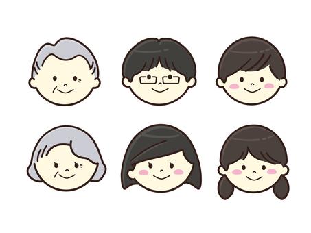 家族・表情