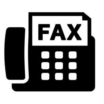 Fax Mark icon Black And White Black