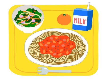 School lunch 11 (meat spaghetti)