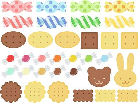 Candy and biscuits