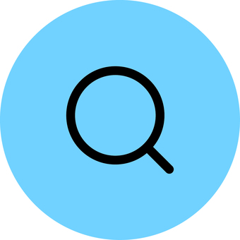 Magnifying glass _ icon _ light blue