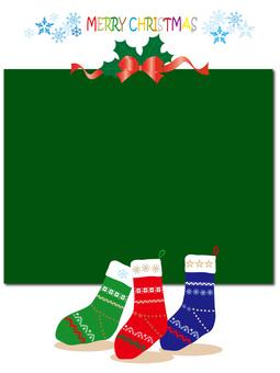 圣诞节袜子背景1