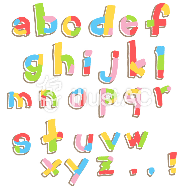 ゆる文字アルファベット3b・小文字