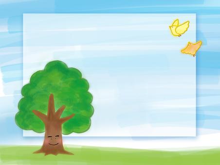 나무와 작은 새들