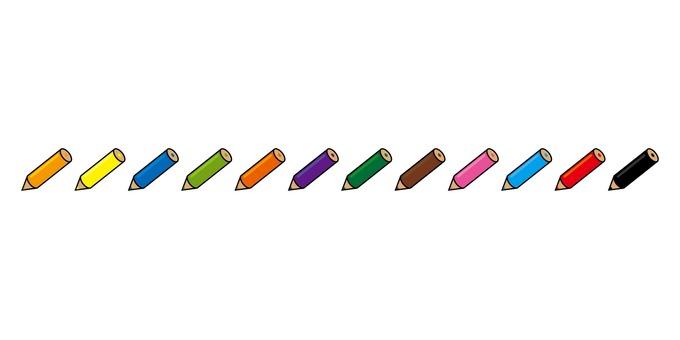 Colored pencil line 01
