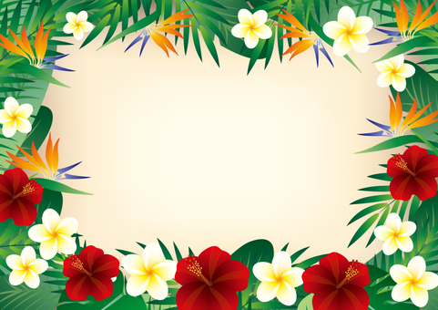 Tropical Frame Horizontal