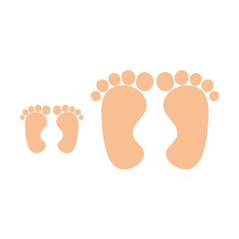 Image of the foot soles of the soles of the feet and the parents