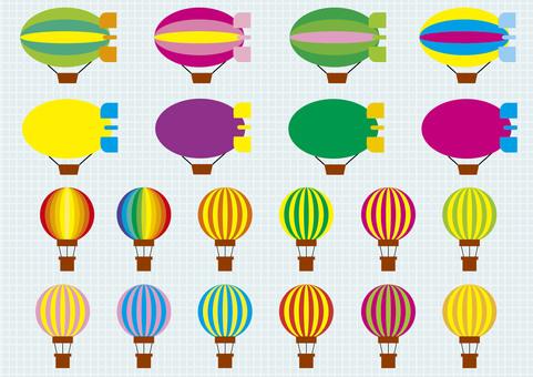 Airship and balloon illustrator