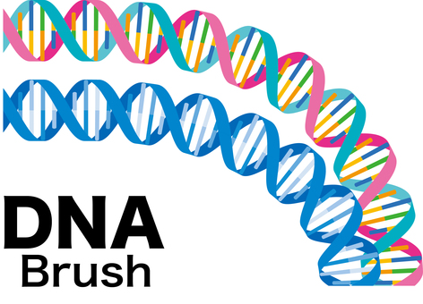 Brush for dna gene irritation