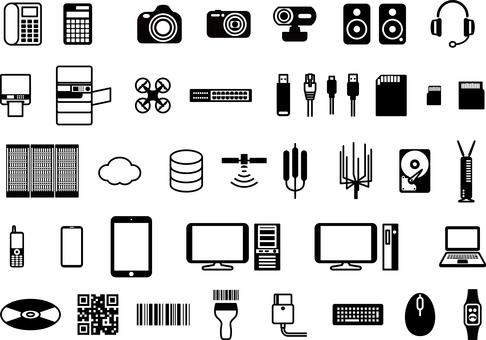IT item equipment icon set