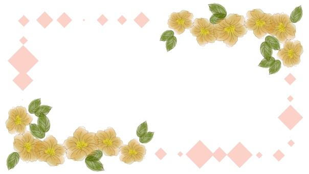 Flower frame hand drawn 3