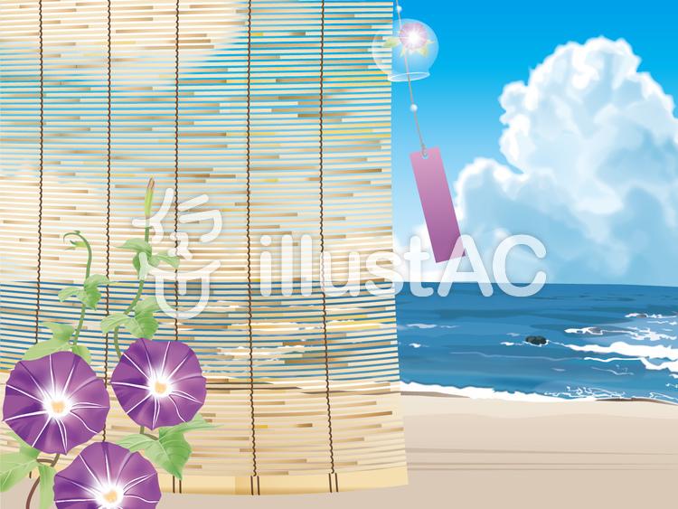 日本の夏イメージのイラスト