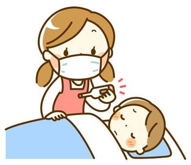 病児保育 検温