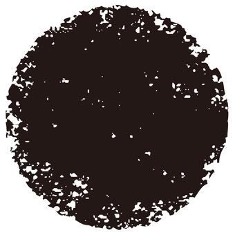 Stamp circle _ black _ cs