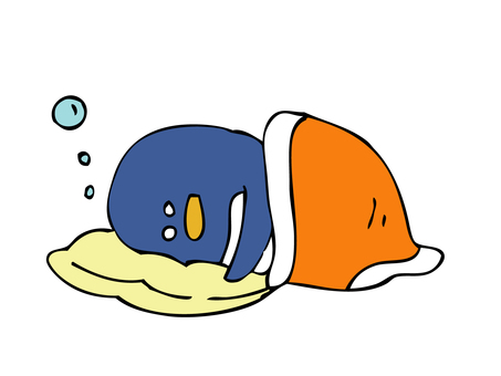 Penguin trying to sleep