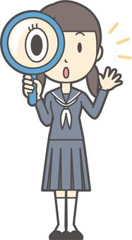 Junior high school sailor woman -300-whole body