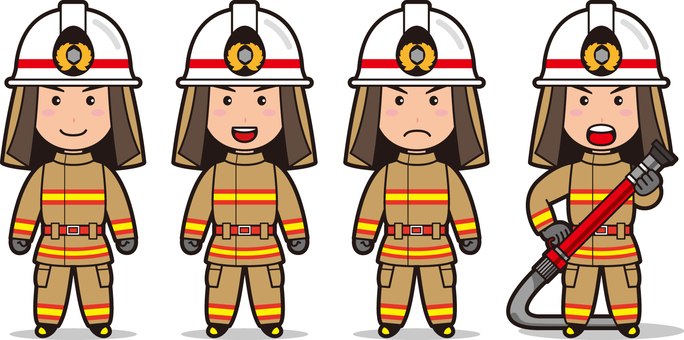 Fireman 7 (male fire protective clothing)