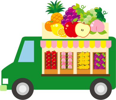 Moving sales of fruits