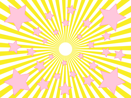 Yellow radiation background material Pink star