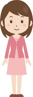 여성 | 대학생 | 사복 | 서 모습