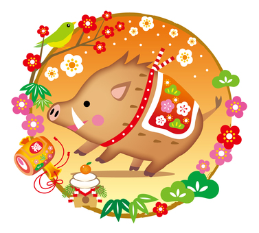 Pig and New Year Items