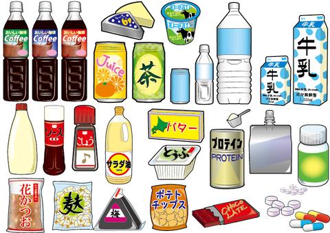 식품 소재 목록 일러스트
