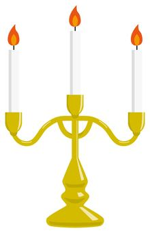 Candle and candlestick