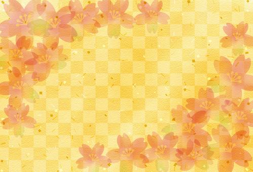 Cherry blossom pattern background