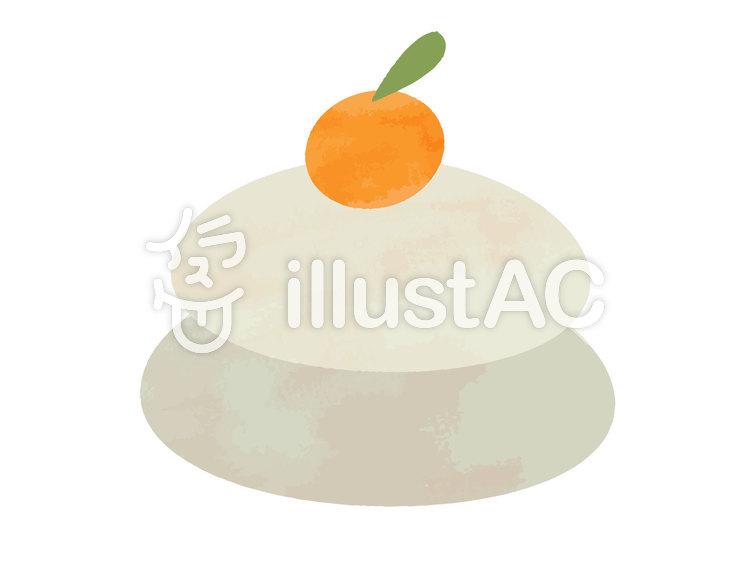 水彩風素材04 鏡餅(餅部分)のイラスト
