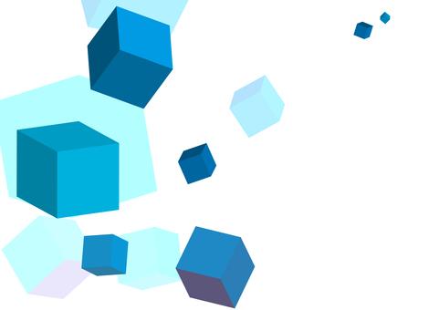 Blue cube texture