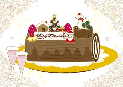 Christmas cake Bushdo Noel