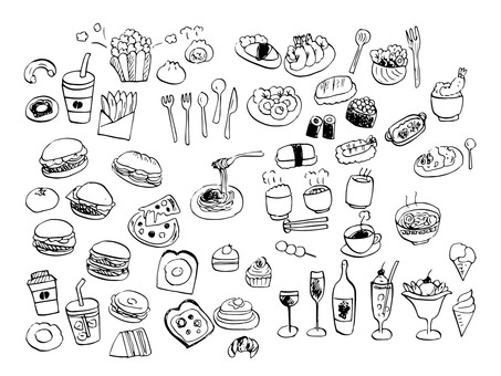 Food illustrations Material drawing