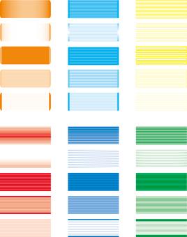 Horizontal title frame Summer image color 3