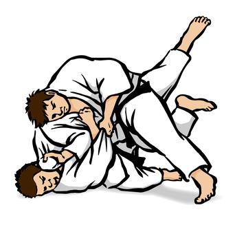 Judo 2 - white and white