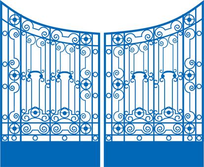 Western style gate