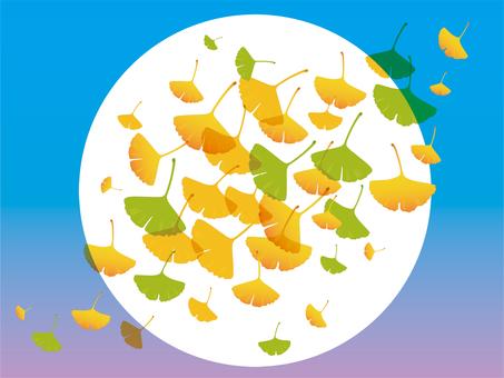Yellow leaf image illustration