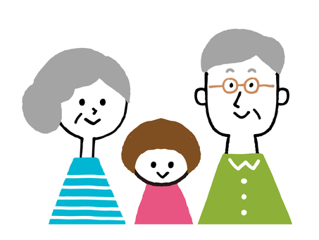 Grandpa and Grandma with grandchild